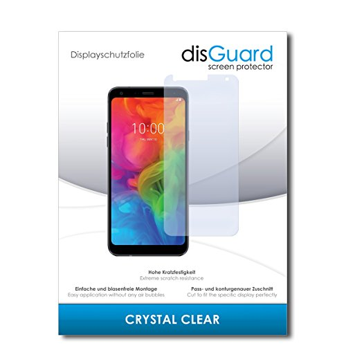 disGuard® Bildschirmschutzfolie [Crystal Clear] kompatibel mit LG Q7 Plus [2 Stück] Kristallklar, Transparent, Unsichtbar, Extrem Kratzfest, Anti-Fingerabdruck - Panzerglas Folie, Schutzfolie