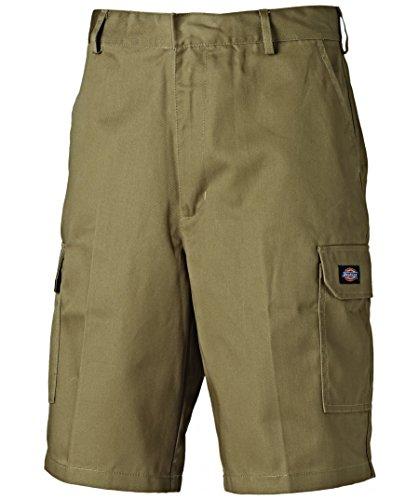 ► Dickies Redhawk Cargo Shorts ◄ verschieden Farben, WD834, 260gr/m² (48, Khaki) (Hose Dickies Herren Arbeit)