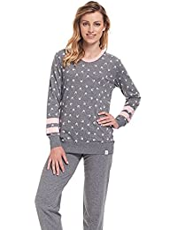dn nightwear Damen Schlafanzug / Pyjama PM.9309