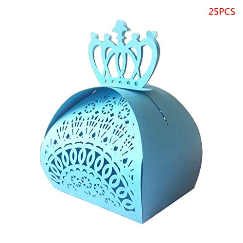 ECMQS 25 Teile / Paket Crown Form Hohl Geschenke Pralinenschachteln Baby Shower Hochzeit Bevorzugungen Lieferungen
