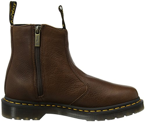 Dr. Martens 2976 Wforwardslashzips, Stivali Chelsea Donna, Dark Brown Marrone (Dark Brown Grizzly)