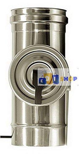 CHEMINEE PAROI SIMPLE TUYAU TUBE INOXIDABLE AISI 316 - dn 120 elemento ispezione canna fumaria tubo acciaio inox 316 parete semplice