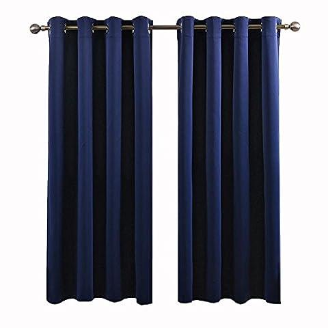Rideaux occultants à œillets prêts à rideau pour chambre à coucher Salon balcon, 1pièces, 1, 1pcx(150x200 cm)