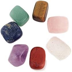 Cristales de curación para uso como piedras de chakra, meditación, relajación y reiki