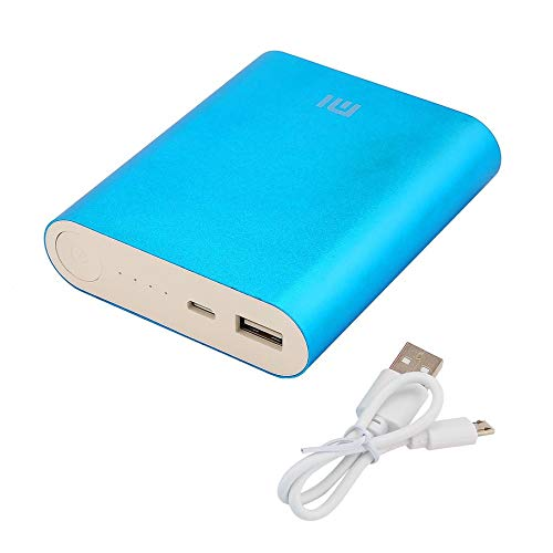 Silverfer Xiaomi Power Bank 10400mAh External Battery Portable Mobile Backup Battery Charger Travel Charge Mobile Power for Smartphone