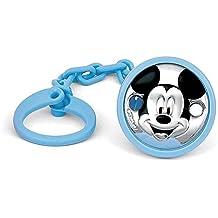 Pinza chupete plata Ley 925m Disney bebé bilaminado Mickey [AC0001]