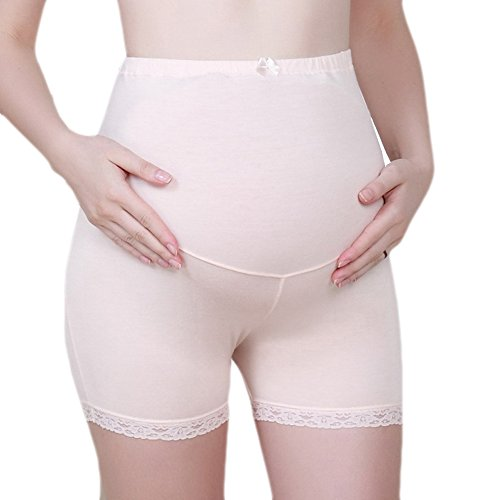 Samber Women Over the Bump Maternity Seamless Underwear Boyshorts Panties ,Skincolor
