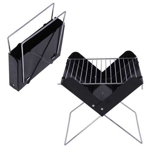 Exhibition Portable Flat Pack Furniture : Foldable bbq grill charcoal portable folding flat pack