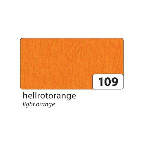 Krepppapier: Krepp-Papier orange, 250x50cm, 32g/qm, 10 Rollen
