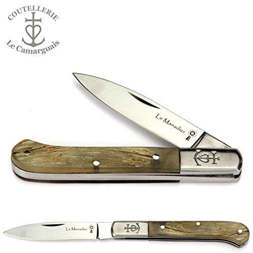 le-camarguais-le-manadier-couteau-pliant-10-cm-manche-en-belier-lame-et-mitres-inox