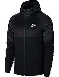 Nike Sportswear Advance 15 Hoodie Fz Ssnl, Sudadera con capucha, Hombre, Blanco/Negro, Small