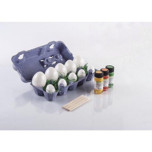 RAYHER 38865000 Marble Paint Set Eierkarton, 3 Farben, 7 Eier inklusive Zubehör