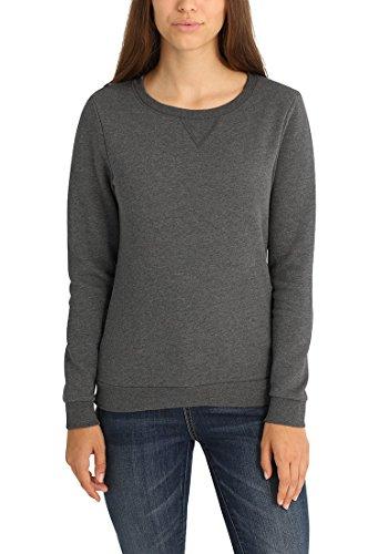 DESIRES Vicky O-Neck Damen Sweatshirt Pullover Sweater Mit Rundhalsausschnitt Und Fleece-Innenseite, Größe:M, Farbe:Grey Melange (8236)
