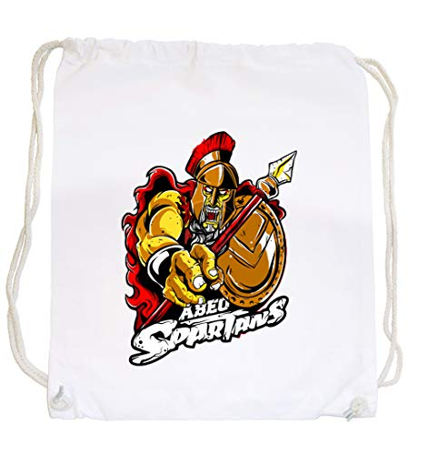 Certified Freak Abeo Spartans Gymsack White