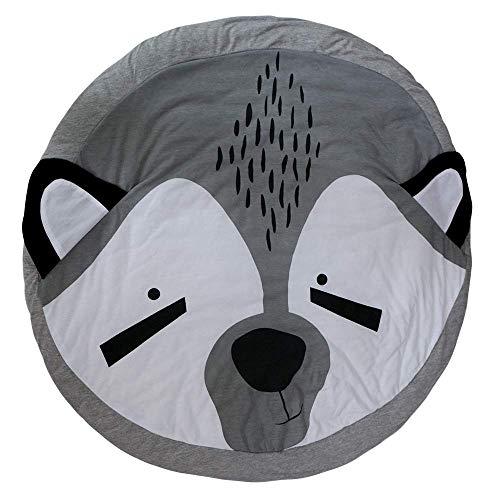 LYDB Rug Baby Gesteppte Runde Spiel Matten Kinder Entwickeln Decken Crawling Teppich Teppich Für Kinder Zimmer Dekoration, Durchmesser 95 cm -