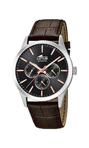 Lotus Watches Reloj Multiesfera para Hombre de Cuarzo con Correa en Cuero 18576/7