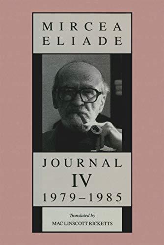 Journal IV, 1979-1985 (English Edition) eBook: Mircea Eliade, Mac ...