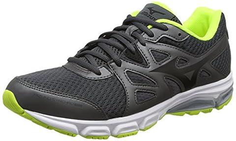 Mizuno Mizuno Synchro Md, Chaussures de Running Compétition homme - Gris - Grey (Dark Shadow/Black/Safety Yellow), 44.5 EU