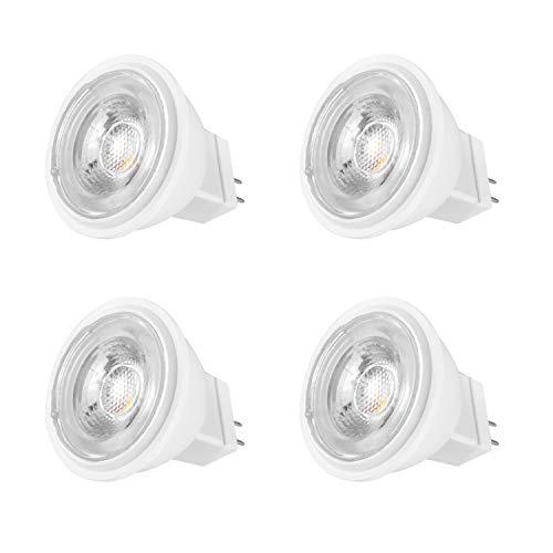 MR11 GU4 LED 12V Lampen 4W 30W 35W 40W Halogen Glühlampe Ersetzt Warmweiß 3000K ø34.5x38mm 38 Grad 390LM Abstrahlwinkel LED-Strahler 4er Pack -