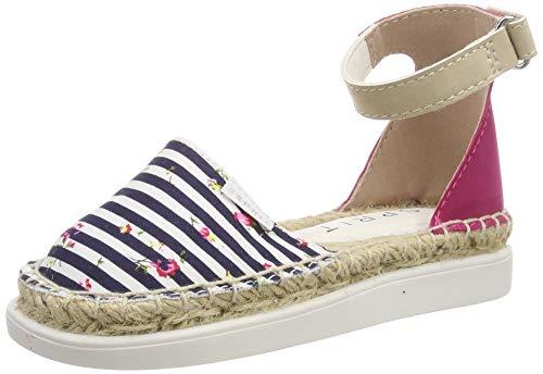 ESPRIT Mädchen Sun Stripe Riemchensandalen, Blau (Navy 400), 32 EU - Stripe Espadrille-sandale