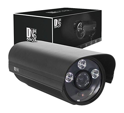 INSTAR IN-5907HD PoE IP Kamera / HD Sicherheitskamera für Außen / IP Überwachungskamera / IP cam mit LAN & PoE 802.3af für Outdoor (3 HighPower IR LEDs, Infrarot Nachtsicht, wetterfest für außen, SD Karte, Bewegungserkennung, Aufnahme, WDR) schwarz