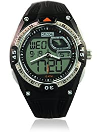 MUNICH 10 ATM Reloj con movimiento cuarzo japonés Man Mu+117.1A  45 mm