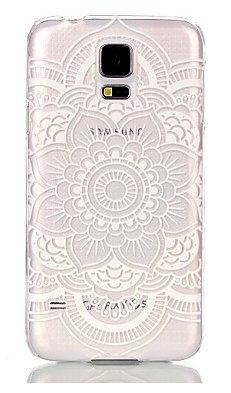 Samsung Galaxy S5 , S5 Neo, S5 New NOVAGO Coque gel souple avec impression fantaisie (Rosace blanche)