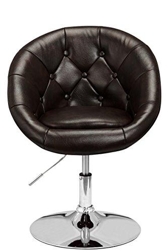 Sedia-Lounge-poltrona-Chesterfield-di-1stuff-Retro-girevole-Sedia-da-bar-club-poltrona-cocktail-poltrona-per-sala-da-pranzo-sedia-Serie-visitatori-regolabile-in-altezza-girevole-a-360-gradi-Rivestimen