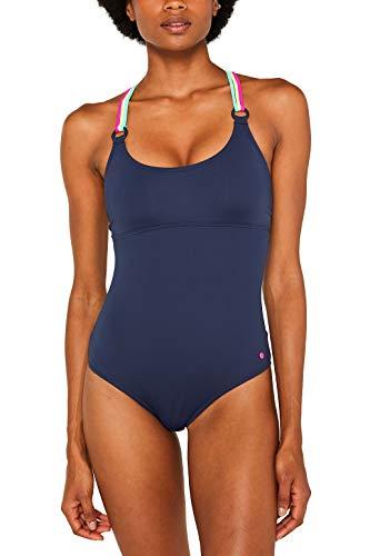 ESPRIT Wattierter Badeanzug mit Neon-Details