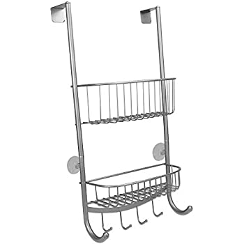 Premier Bathroom 2 Tier Folding Corner Caddy Chrome Rack Storage Organizer Unit
