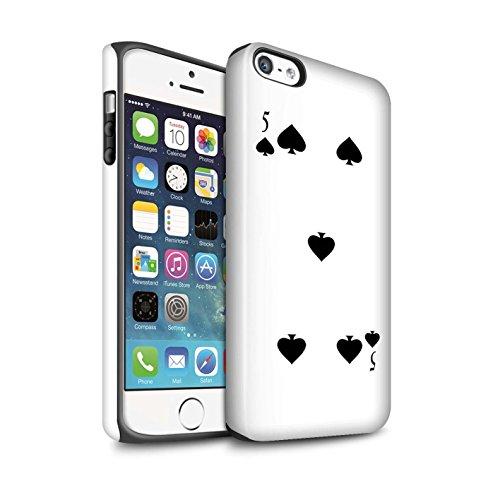STUFF4 Matte Harten Stoßfest Hülle / Case für Apple iPhone 6 / Pik-König Muster / Kartenspielen Kollektion 5 von Pik