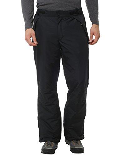 Ultrasport Arlberg - Pantaloni da sci funzionali uomo - Pantaloni da snowboard con tecnologia Ultraflow 2.000 - Ski pants con imbottitura termica, Nero, M