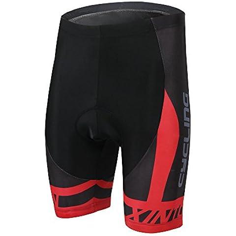 TeyxoCo Nuovo Uomini Manica Corta Cycling Padded Shorts M