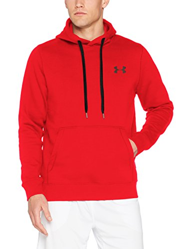 Under Armour Herren Rival Fitted Pull Over Oberteil Red