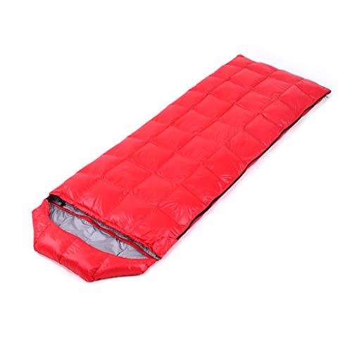Iashion Erwachsene Outdoor Schlafsack Ultralight Unten Umschlag Warme Tasche Spleißbare Ente Unten Schlafsack,Red
