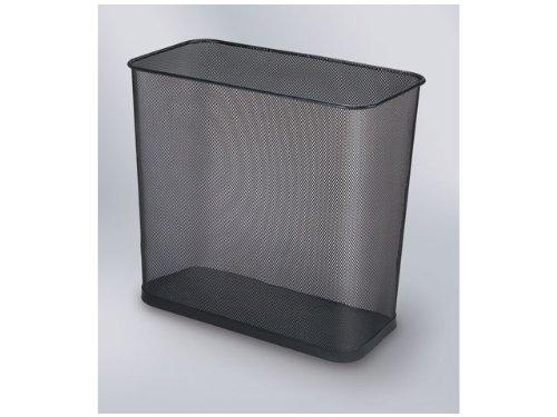Papierkorb Draht rechteck.28 L schwarz 41x22x35,6cm Stahl - Rechteckige Stahl