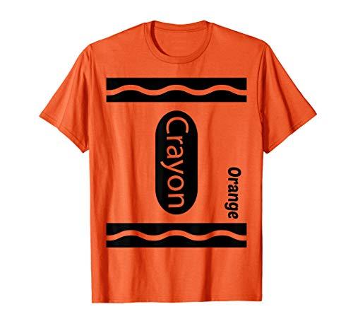 Orange Wachsmalstift Halloween Paar Freund Gruppe Kostüm - Orange Crayon Kostüm