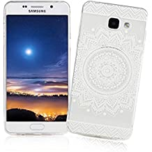 XiaoXiMi Coque Samsung Galaxy A3 2016 SM-A310F Housse Transparent Etui en Silicone Soft Clear TPU Case Cover Housse Souple de Protection Coque Mince Léger Etui Flexible Lisse Couverture Anti Rayure Anti Choc Housse avec Désign Simple - Tournesol Blanc Rétro