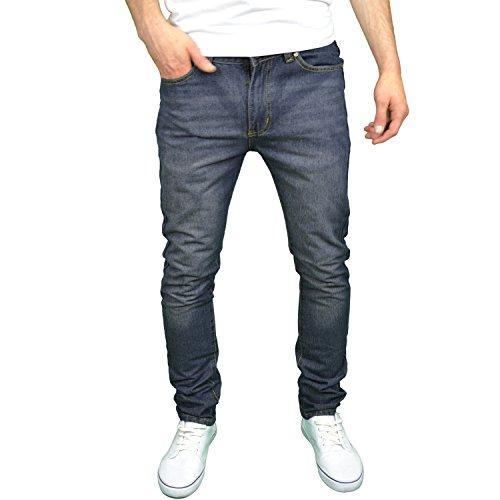 SoulStar Designer-Jeans für Herren, enge Passform Dirty
