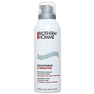 biotherm homme aquapower d sensitive mousse de rasage anti irritations 200 ml beaut. Black Bedroom Furniture Sets. Home Design Ideas