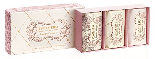 Crabtree & Evelyn rose Perfumed Bath Soap, 1er Pack (3 x 85 g)