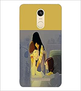 PrintDhaba Couple D-5862 Back Case Cover for XIAOMI REDMI NOTE 3 PRO (Multi-Coloured)
