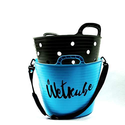 WETKUBE Surf Cubo 25 litros para Transportar y acelerar el Secado del Neopreno, Azul