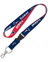 NFL LANYARD WITH DETACHABLE BUCKLE NEW ENGLAND PATRIOTS