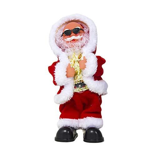 Waroomss Weihnachten Santa Musical Puppe Spielzeug, Tanzen Und Singen Weihnachten Plüsch Elektrisches Spielzeug Lustiges Geschenk Weihnachten Plüsch Puppe Home Decor (Dancing Dolls Kostüm)