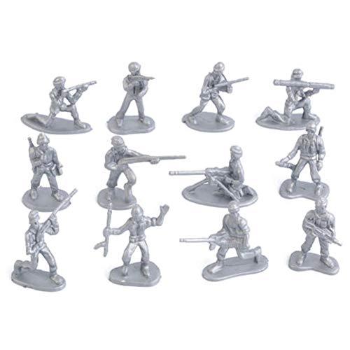 Neinei 100 stücke Military Kunststoff Spielzeug Soldaten Armee Männer Figuren 12 Posen Geschenk (Spielzeug Armee Kunststoff Männer)