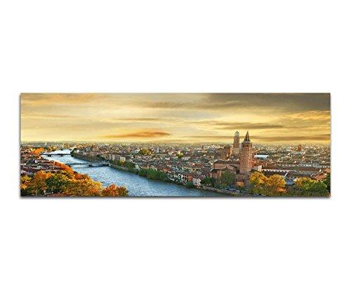 Immagine Immagine Da Parete–Verona City River Sunset italiana 150x 50cm Stampa artistica