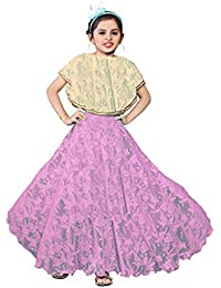 White World Baby Girls Birthday Party wear Frock Dress,11-12 Years(Black and Pink)