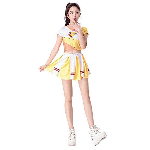 Babyicon Damen Cheerleader Kostüme Sports Anzüge Verrücktes Kleid Outfit Uniform (M)