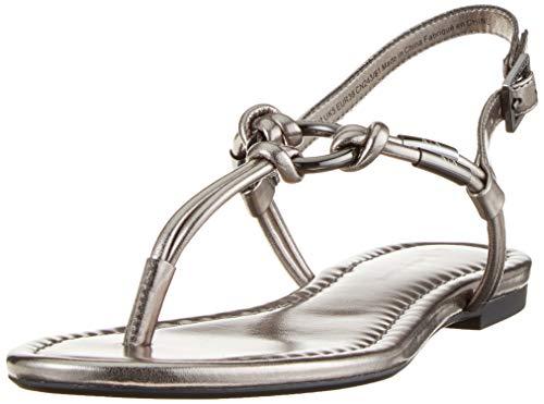 Armani Exchange Damen Flat Sandal with Knot Zehentrenner, Gold (Gun Metal 00966), 40 EU